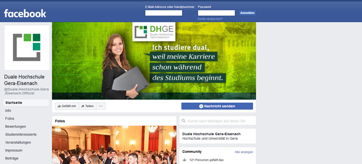 Image Neuer Facebook Account der DHGE